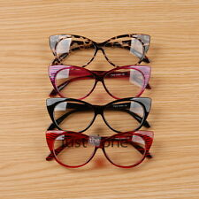 Women Ladies Girls Cat-Eye Design Plastic Frame Plain Clear Glasses Spectacles
