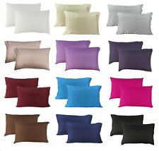 MIXED COLOR:  PAIR of 100% Mulberry Silk Pillow cases / slips / cover STANDARD