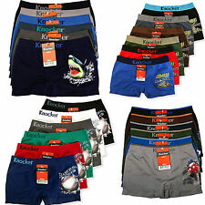 6 pair Boy's Boxer Brief Underwear Seamless Shorts Lot S M L - Choose Pattern !