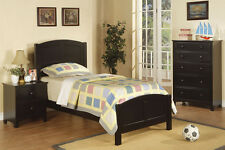 Contemporary Bedroom Furniture Twin Bed Frame In 3 Colors 3 Pcs Bedroom set