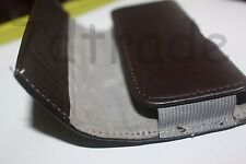 vertical Color leather pouch clip & belt loops for Apple Iphone 5S with case on