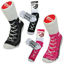 New Silly Thick Black & Pink Sneaker Socks & Sandal Slipper Socks Official