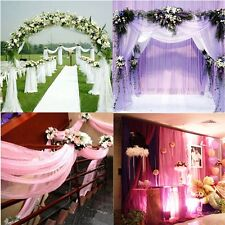 1000CM*75CM Sheer Organza Roll Wedding Chair Sash Bow Table Runner Swag Decor