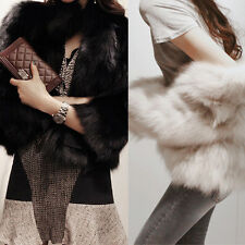 Luxury Women's Faux Fur Warm Plain Outwear Short Coat Jacket Overcoat 2 Colors