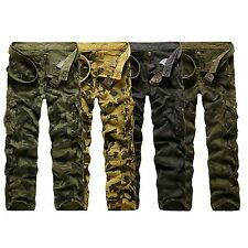 Hot !Mens Military Army Cargo Camo Combat Straight Leisure work Trousers Pants