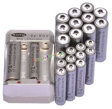 12x AA 3000mAh + 12x AAA 1800mAh 1.2V Ni-MH Grey Rechargeable Battery +Charger