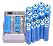 12x AA 3000mAh + 12x AAA 1800mAh 1.2V Ni-MH Blue Rechargeable Battery +Charger