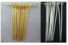 Fashion Silver and Gold Plated Eye's Pins & Needles Jewelry Findings 6 Size