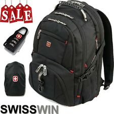17' Laptop Backpack Computer Notebook School Travel Bag Men Swisswin Fashion Hot