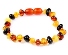 100% Genuine Amber Teething Anklet/Bracelet Knotted MIX from UK Dristriibutor