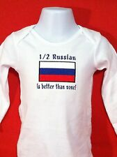1/2 Russian is better than none! Russia Flag Carter's Baby Bodysuit Embroidery