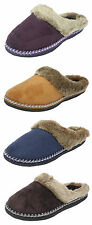 Womens Ladies Coolers Micro Suede Fluffy Fur Mules Slippers Size 3 4 5 6 7 8