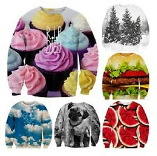 3D Digital Print Cat/RIP DIET/Strawberry/Fruit/Animal Sweater Jumper Sweater