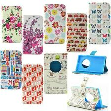 Eiffel Tower Rose Flower Flip Leather Card Stand Case Cover For Nokia Lumia 1020