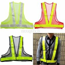 Visibility Reflective Warning Safety Security Vest Gear Traffic Working Clothes