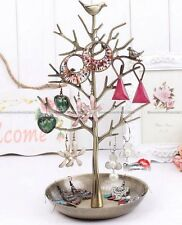 Vintage Bird Tree Jewelry Earring Necklace Ring Holder Display Rack