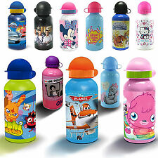 Disney  & Kids TV Character Aluminium Water Bottle Brand New Gift