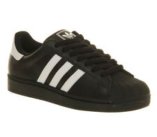 Adidas Superstar 2 BLACK WHITE Trainers Shoes