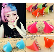 Lady Girl Cosplay Costume Little Devil Horns Candy Colored Hairpin Hair Clip O