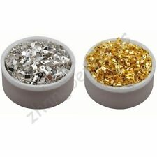 Gold Silver Plated Point Fold Over Crimp Beads Cord End Tips Charm 6 8 9 10 mm
