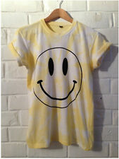 SMILEY FACE 90's ACID SMILEY FACE RAVE HIPSTER YELLOW TIE DYE Sz. S M L