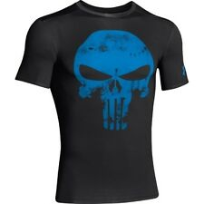 ** PUNISHER ** Under Armour Men's Alter Ego Compression Shirt All Sizes BK/Blue