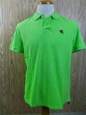EXPRESS MENS MODERN FIT SMALL LION PIQUE POLO Placid Green sz Large, X-Large