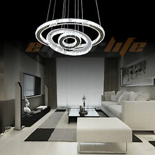 Modern Indoor Lobby Living Dining Room LED Crystal Chandelier Ceiling Light Lamp