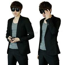 Korean Fashion Mens Casual Slim Fit Suit Sport Coat Blazer Jacket 5Size S M L XL