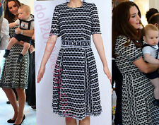 Black & White Knitted Knit Print Fringe Cotton Skater Dress Size 10 12 8 14 16