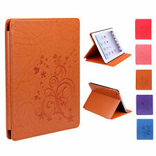 Floral Butterfly Chic Sweet Faux Leather Case Cover Stand Skin for ipad 2/3/4