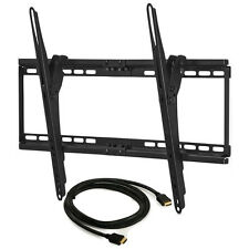 Tilting Wall Mount + 6ft HDMI Cable for LG / Vizio LED LCD 3D HD TV 39-65 inch