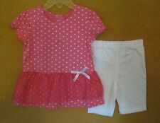 NEW FISHER-PRICE GIRLS 2 PC SHORT OUTFIT 2T, 3T, 4T