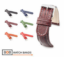 BOB Teju Lizard Style Watch Band/Strap, 18, 20, 22, 24 mm, 6 colors, new!