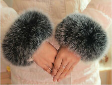 New hot sell real fox fur hand foot warmers pair cuffs accessorie super soft