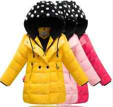 2014 Sweet Cute  Kids Girls Thicken long section Down Jacket 5 Color size 3-6Y