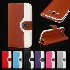 Luxury Hybrid Leather Case Magnetic Flip Stand Wallet Cover For iPhone Samsung