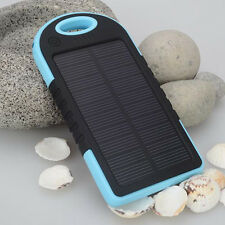 water-resist 5000mAh Portable USB Solar Panel charge power bank for Smartphones