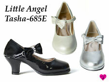 New Pageant Flower Girl Shoes Dress Party Heels Little Angel Tasha-685E