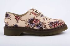Ladies Dr Martens 1461 Lester Canvas Beige Wild Rose Floral Shoes