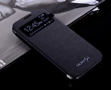 OEM S-View Smart Battery Flip PU Leather Cover Case For Samsung Galaxy S4 i9500