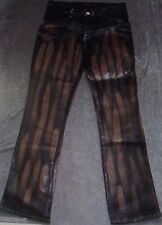 Womens (4 or 8) APPLE BOTTOMS BLEACHED COATED SHINY JEANS Stretch Bottom