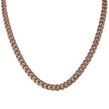 Rose Gold Plated 9 Mm Cuban/Curb Chain Necklace Or Bracelet - LIFETIME WARRANTY