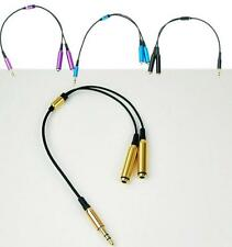 BUS 3.5mm 1 Male to 2 Female Earphone Headphone Audio Extension Y Splitter Cable