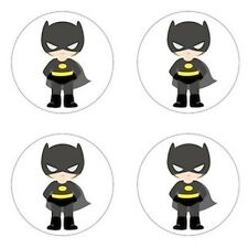 Batman - Little Super Hero Inspired Edible Cupcake Toppers Decoration