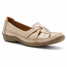 Clarks KESSA GIFFORD Womens Taupe Leather Slip On Comfort Casual Flat Shoes