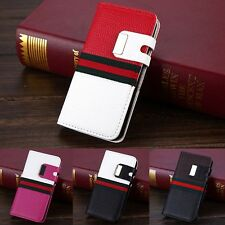 For Apple iPhone 5 5S Magnetic Flip Wallet Luxury PU Leather Case Cover Pouch