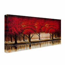 Trademark Fine Art 'Parade of Red Trees II' by Rio Painting Print on Canvas