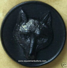 Fox Mask Buttons Black Equestrian 2 Buttons For  £1.00   Single Order