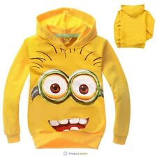 Hotsale Boys smile despicable cartoon Long-sleeved Sweatshirts & Hoodies 2-8Ys